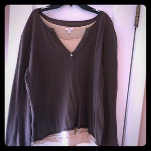 JJill Layered Sweater Sz  L